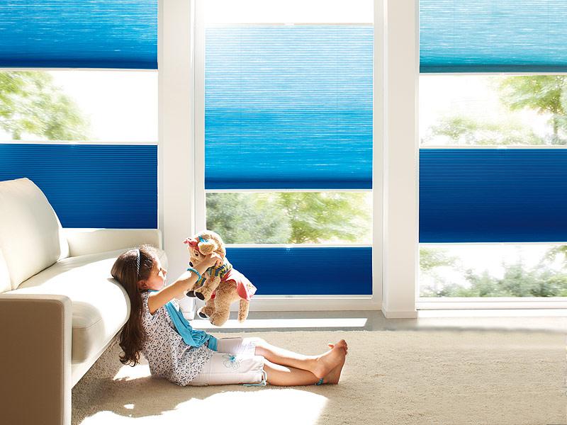 Plissé gordijnen worden geleverd door brabant tapijt